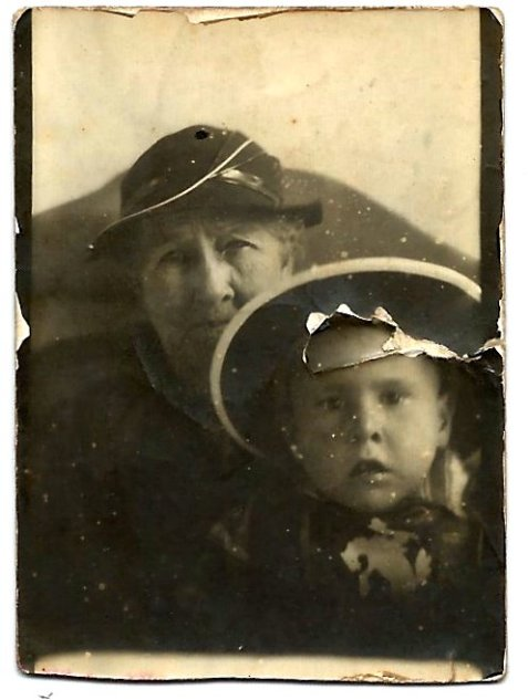 Lucinda Elizabeth Guthrie and grandson Tommy Guthrie, son of Perry Guthrie. Ray City, Berrien County, GA.