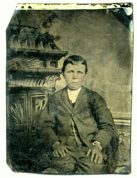Joseph Henry Pascal Johnson, tintype. Image courtesy of Julie Hutson.
