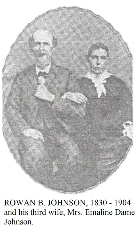 Rowan Burnett Johnson and Emaline Dame Johnson, father and step-mother of J.H.P. Johnson. Image courtesy of Julie Hutson.