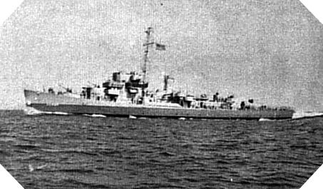 USS Rich (DE 695)  somewhere in the Atlantic.