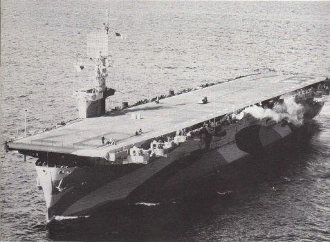 USS Hollandia off the coast of California in 1944.