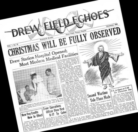 Drew Field Echo, 1942 Christmas Edition, Drew Army Air Field, Tampa Florida