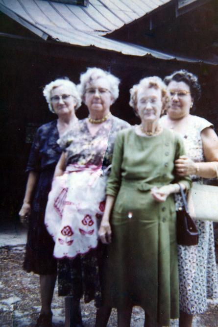 Gardner Sisters: Emma Gardner, Chloe Ann Gardner Johnson, Mary Gardner Stewart, & Martha Leone Gardner. Image courtesy of Julie Hutson.