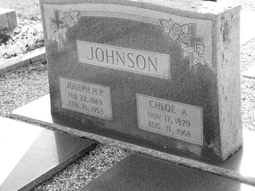 Grave of Joseph Howard Pascal Johnson and Chloe Gardner Johnson, Beaver Dam Cemetery, Ray City, Berrien County, GA