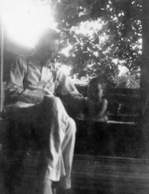 Joseph Henry Pascal Johnson and grandchild. Image courtesy of Julie Hutson.