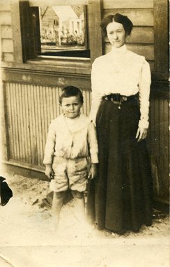 Mary Jane Gardner Stewart and son, Elton. Mary Jane was a sister of Chloe Gardner Johnson.