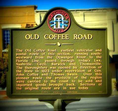 Coffee Road historical marker, Ray City, Georgia