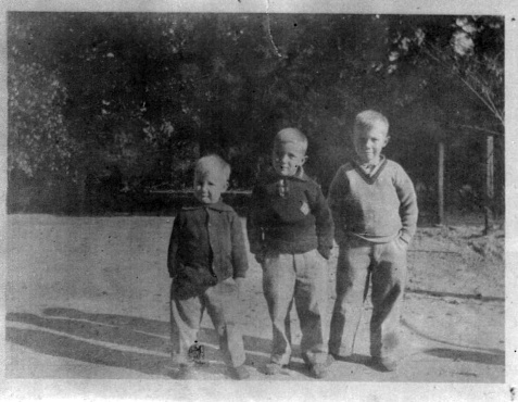 Maurice (Morris) Johnson, Robert Bruce Johnson and James Howard Pascal Johnson. Image courtesy of Julie Hutson.