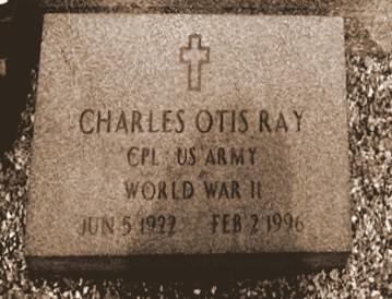 Gravemarker of Charles Otis Ray (1922-1996), Evergreen Cemetery, Fitzgerald, GA