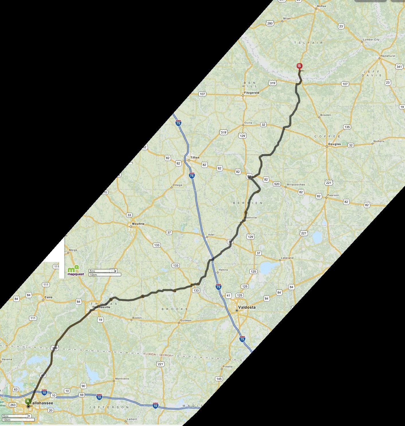 Thaddeus G Holt Ray City History Blog - Mapquest macon ga