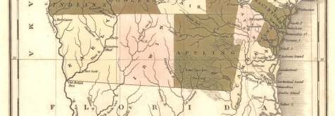 1822 Map Detail showing Irwin County, GA
