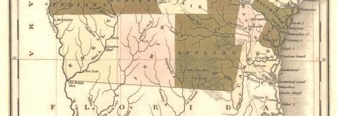 1822 Map Detail showing Irwin County, GA