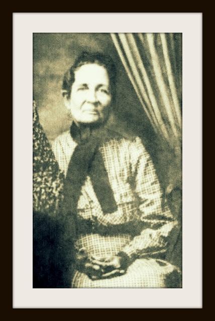 Mary Elizabeth Carroll Lamb, circa 1875, daughter of Margaret Chestnut and Jesse Carroll. Image detail from original courtesy of http://berriencountyga.com/
