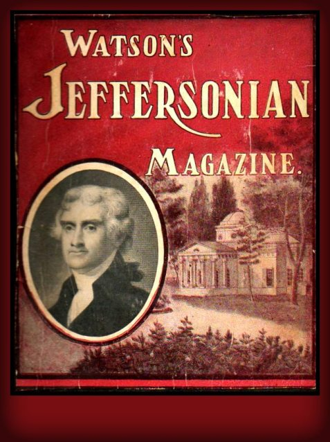 Cover, Watson's Jeffersonian Magazine