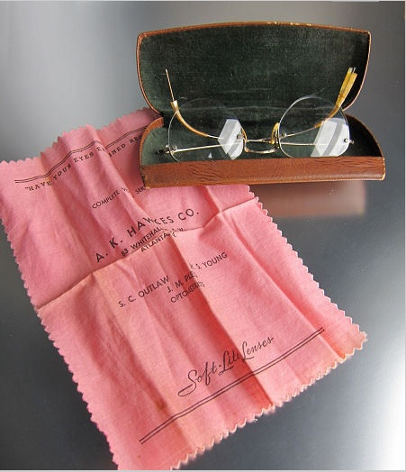 A. K. Hawkes Company, eyeglasses and case. Image source: http://www.rubylane.com/item/634706-1003111/K-Hawkes-Co-Eyeglasses-Case