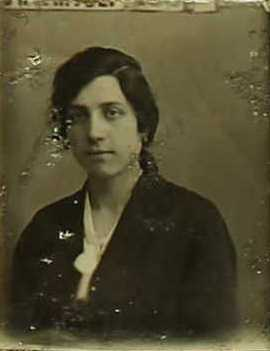 Jeanne Victorine Brissaud, 1920 passport photo.
