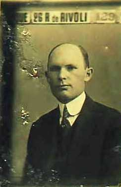 John R. Wood, 1920 passport photo.