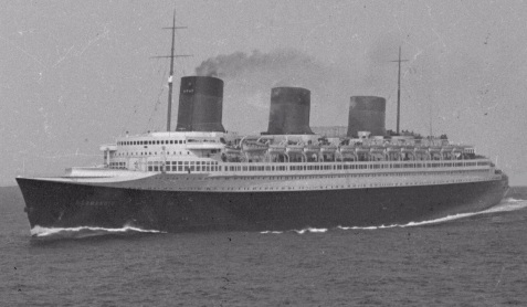 SS Normandie at sea in the 1930s.