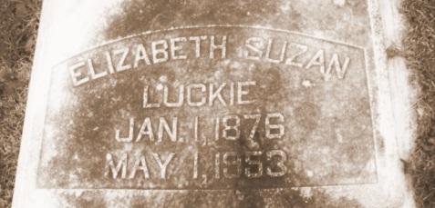 Elizabeth Susan Luckie, (1876-1953), Oak Hill Cemetery, Quitman, GA.
