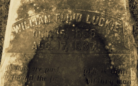 William Floid Luckie (1858-1937), Oak Hill Cemetery, Quitman, GA.