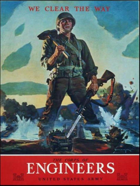 1942 recruitment poster for the Army Corps of Engineers