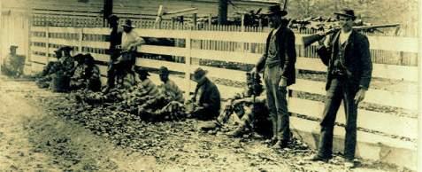 Convict labor and guards in South Georgia