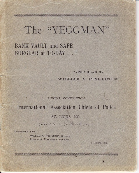 The Yeggman, by William Pinkerton.
