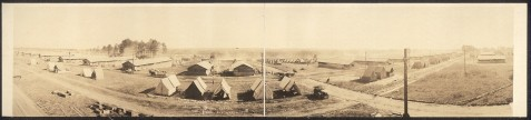 Artillery Hill, Camp Wheeler, Macon, GA.  October 2, 1917