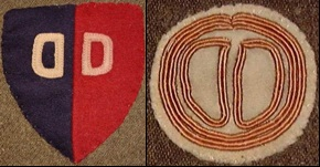 WWI Dixie Division arm patches.