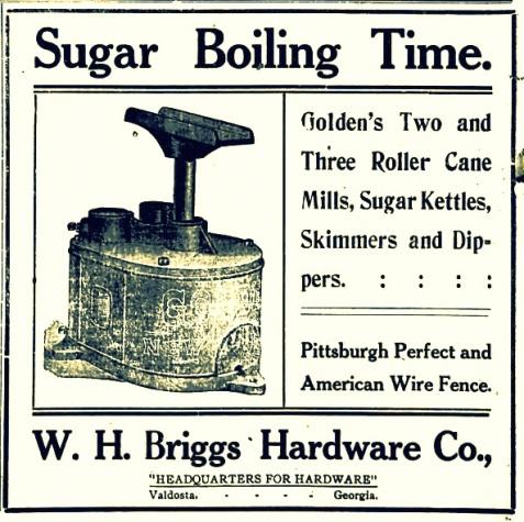 1908 Valdosta Times advertisement.