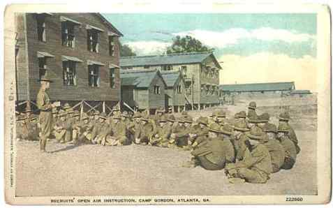 Recruits' open air instruction, Camp Gordon, Atlanta, GA 1918