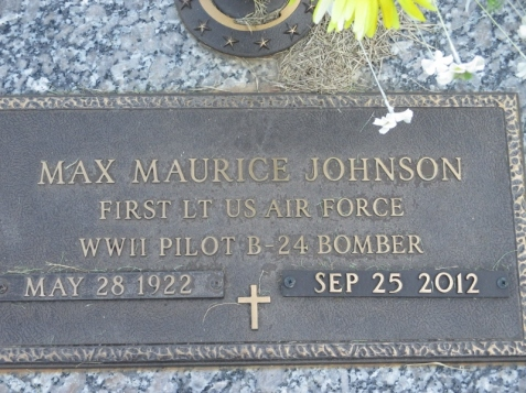 Grave of Max Maurice Johnson, Carroll Memory Gardens, Carrollton, GA. Image source: Don Sharp.
