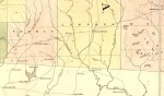 Detail of Burr's 1839 map showing the route from Waresboro to Thomasville via Franklinville, Lowndes County, GA