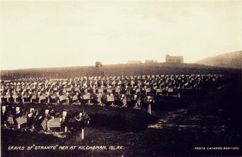 Graves of Otranto men at Kilchoman, Islay