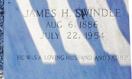 "Grave marker of James Henry ""Jim"" Swindle, Beaver Dam Cemetery, Ray City, GA"
