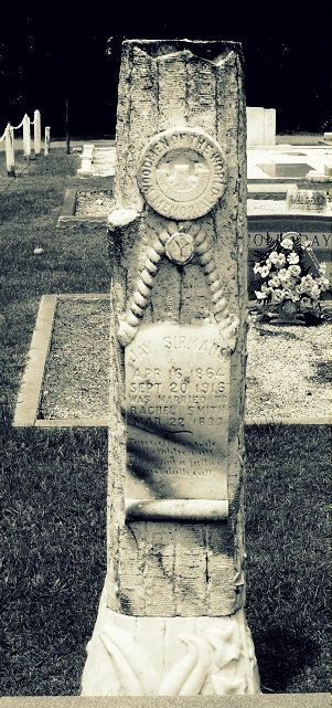 Gravemarker of Jay Sirmans, Beaver Dam Cemetery, Ray City, GA. Died September 20, 1916