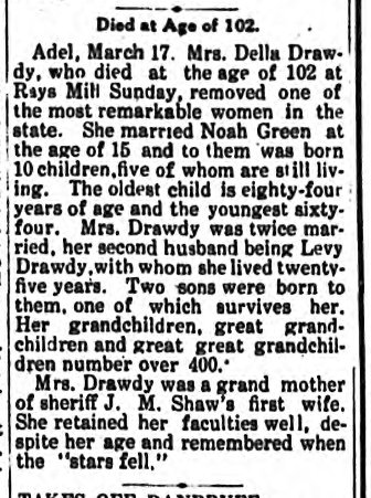 Obituary of Delilah Drawdy