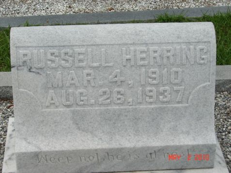 Grave of Charles Russell Herring, New Ramah Cemetery, Ray City, GA