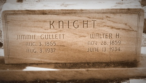 Graves of Jimmie Gullett and Walter Howard Knight, Beaver Dam Cemetery, Ray City, GA.