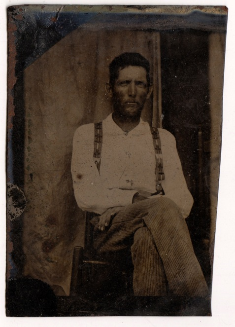 Tintype photograph of Walter Howard Knight, Rays Mill, Berrien County, GA. Image Courtesy of Jimmie Mobley.