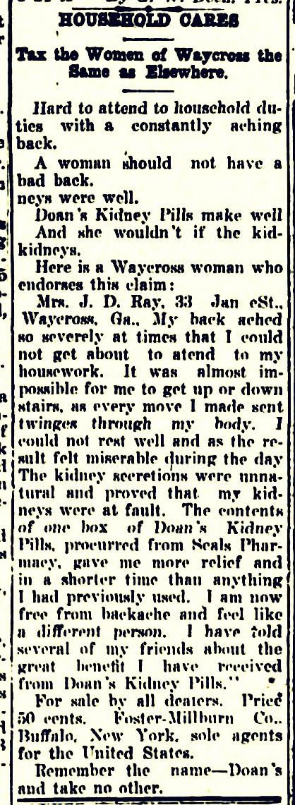 Waycross Journal, Aug. 26, 1910