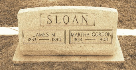 Graves of James Murray Sloan and Martha Susan Gordon, Beaver Dam Cemetery, Ray City, GA