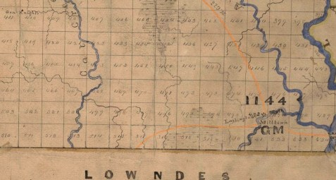 1869 Berrien County Map detail showing location of land lot # 450.