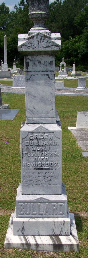 Grave of Green Bullard, Beaver Dam Cemetery, Ray City, GA.