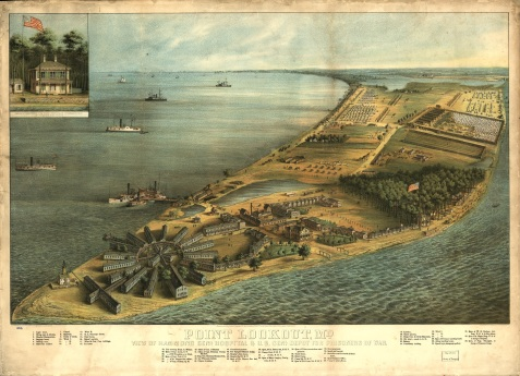 Point Lookout, MD.  Hammond General Hospital and U.S. General Depot for Prisoners of War.