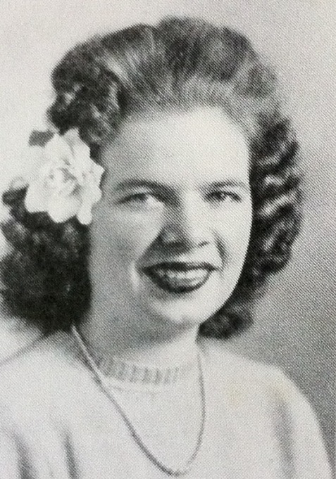 Ann Ruth Clements of Ray City, GA, a 1943 freshman at Georgia State Womans College, Valdosta, GA (now Valdosta State University.)