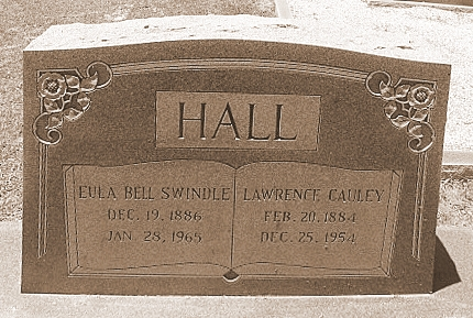 Graves of Eula Bell Swindle and Lawrence Cauley Hall