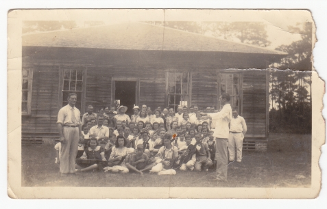 Music School conducted by John Guthrie (right) and John Varner (left) at Irene Church, Lanier County, GA