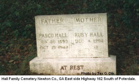 Grave of Pasco Olandro Hall