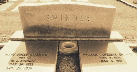 Graves of William Lawrence Swindle and Mary Pollie Neesmith, Old City Cemetery, Nashville, GA
